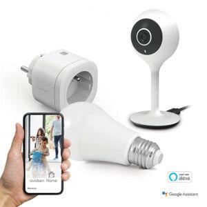 Avidsen Kit starter connecté - caméra WiFi - prise & ampoule connectés
