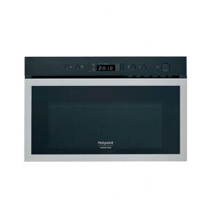 Hotpoint Micro-ondes encastrable HOTPOINT - 22 L - 750 W - gril & décongélation - inox & noir