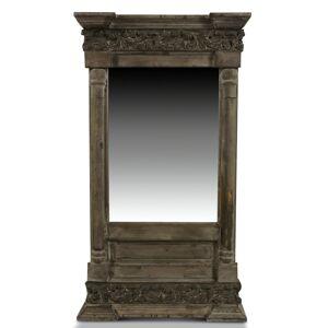 Miroir Ancien Rectangulaire Vertical Bois 42x10x75cm - Marron