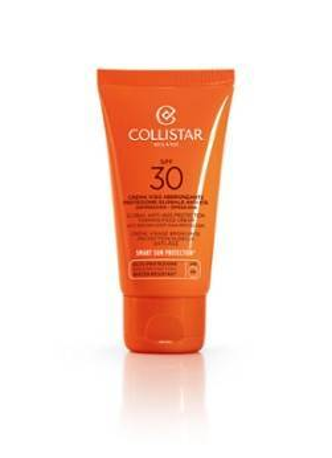 Collistar Global Anti-Age Protection Tanning Face Cream SPF 30 - Accélérateur de bronzage