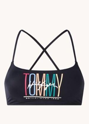 Tommy Hilfiger Haut de bikini bralette avec imprimé logo
