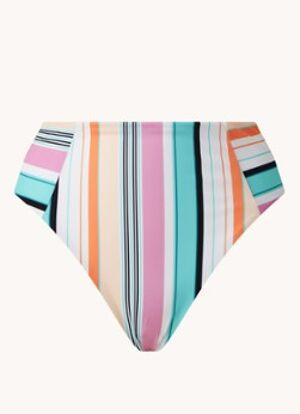 Tommy Hilfiger Culotte de bikini brésilienne taille haute à rayures