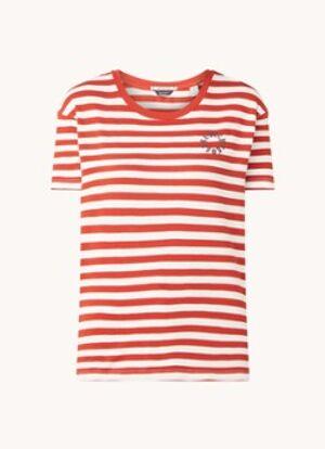 Scotch & Soda T-shirt à rayures et logo