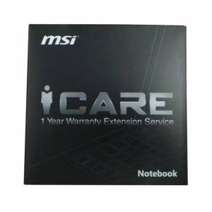MSI Notebook iCARE 1 Year Warranty Extension