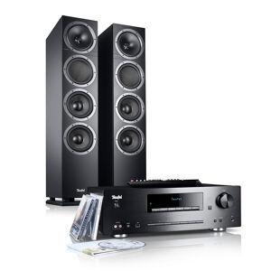 Teufel Kombo 500, ensemble stéréo Bluetooth et lecteur CD/MP3, noir - noir