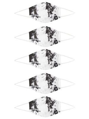 Grubenhelden Masque en tissu 'Kohleoptik'  - Blanc - Taille: One Size - male