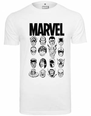 Tee T-Shirt 'Marvel Crew Tee'  - Blanc - Taille: M - male