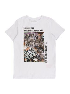 NAME IT T-Shirt 'POKEMON'  - Blanc - Taille: 116 - boy