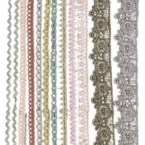 Creativ Company Rubans dentelle, L: 10-25 mm, couleurs assorties, 12x3 m/ 1 Pq.