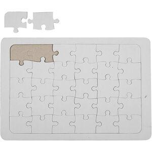 Creativ Company Puzzle, blanc, 10 pièce/ 1 Pq.