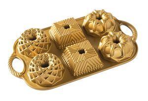 Nordic Ware Moule à Bundt Cake Geo Bundtlette Or