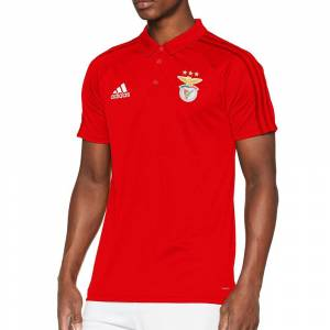 Adidas Benfica Lisbonne Polo rouge homme Adidas  - Rouge