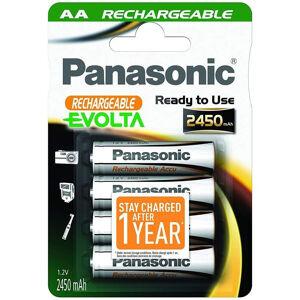 Panasonic 4 Piles Rechargeables Panasonic Evolta 2450mAh AA / HR6