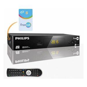 Philips DSR3031F Récepteur TV satellite HD + Carte FRANSAT PC6 Eutelsat 5W - Noir - Philips