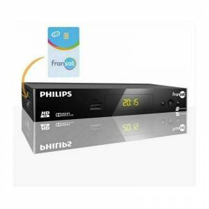 Philips RÉCEPTEUR DSR 3031F , DÉMODULATEUR SATELLITE - ENREGISTREUR USB HD FRANSAT + CARTE FRANSAT DURÉE ILLIMITÉE - Philips