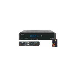 SERVIMAT VEGAII Récepteur TV satellite Full HD + Carte d'accès TNTSAT V6 Astra 19.2E - Noir - Servimat