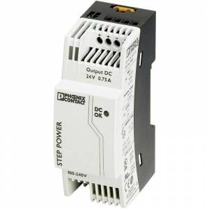 Phoenix Contact Alimentation rail DIN Phoenix Contact STEP-PS/1AC/24DC/0.75 2868635 24 V/DC 0.83 A 18 W 1 x 1 pc(s) S99429