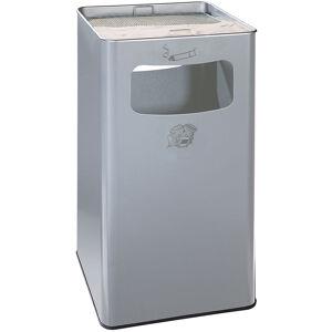 CERTEO Combiné cendrier-poubelle avec cendrier à remplir de sable - h x l x p 755 x 430 x 430 mm - argent - Coloris poubelle: argent