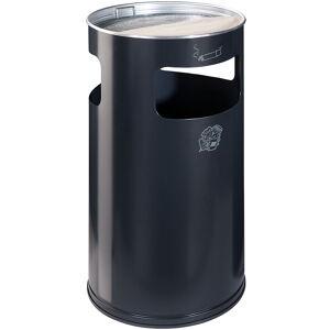 CERTEO Combiné cendrier-poubelle avec cendrier à remplir de sable - hauteur 760 mm, Ø 420 mm - anthracite - Coloris poubelle: anthracite