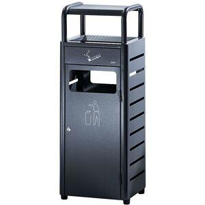 PROBBAX Combiné cendrier-poubelle - capacité poubelle 20 l, capacité cendrier 2,3 l - h x l x p 880 x 330 x 280 mm - Coloris poubelle: anthracite RAL 7016