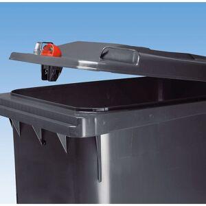 CERTEO Conteneur à déchets en plastique à fermeture par gravité - capacité 120 l, h x l x p 933 x 482 x 552 mm - bleu - Coloris poubelle: bleu