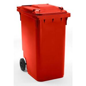 CERTEO Conteneur à déchets en plastique à fermeture par gravité - capacité 360 l, h x l x p 1100 x 600 x 874 mm, Ø roues 200 mm - Coloris poubelle: Rouge