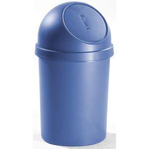 CERTEO helit Poubelle à trappe en plastique - capacité 45 l, hauteur 700 mm, lot de 2 - bleu - Coloris poubelle: bleu Coloris du couvercle: bleu