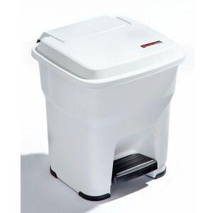 CERTEO Rothopro Collecteur de déchets à pédale, en plastique - capacité 35 l - blanc - Coloris poubelle: blanc