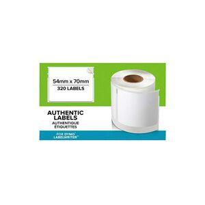 Dymo LW - Étiquettes authentiques multi-usages, 54 mm ?70 mm, rouleau de 320 étiquettes avec dos facile à décoller, auto-adhésives, pour les étiqueteuses