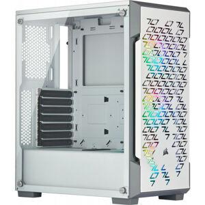 Corsair iCUE 220T RGB Airflow - Boîtier Midi-tour - PC - Acier - Verre trempé - Blanc - ATX,Micro ATX,Mini-ITX - Jouer (CC-9011174-WW) - Corsair