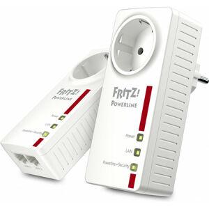 AVM FRITZ!Powerline 1220E - 1200 Mbit/s - Type F - Gigabit Ethernet - 10,100,1000 Mbit/s - 10BASE-T,100BASE-T,1000BASE-T - HomePlug AV2 (20002753) - AVM