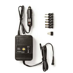 Nedis Adaptateur d'alimentation Universel de Voiture   Adaptateur Voiture   24 W   1.5 VDC / 3.0 VDC / 4.5 VDC / 6.0 VDC / 7.5 VDC / 9.0 VDC / 12 VDC