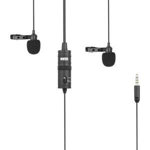 BOSTON RED SOX BOYA M1DM Double microphone lavalier - Sortie TRRS - Câble 4 m