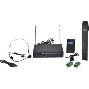 Vidaxl - Récepteur avec 1 microphone sans fil et 1 casque sans fil VHF