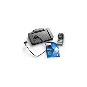 Philips DPM6700/03 - Ensemble d'accessoires pour auteur et assistant, comprenant le Dictaphone DPM6000, le pédalier ACC2330, le casque stéréo basse LFH0334,