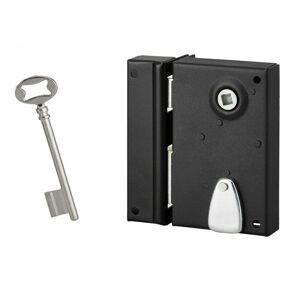 SERRURERIE DE PICARDIE Serrure verticale en applique à clé pour porte intérieure, gauche, 70x110mm, noir, 1 clé - Serrurerie De Picardie