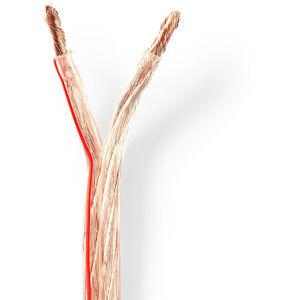 Nedis Câble haut parleur   2x 6.00 mm²   CCA   100.0 m   Rond   PVC   Transparent   Emballage NE550702773 - Nedis