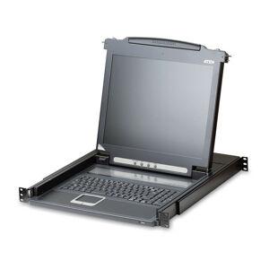 Aten CL1000M - 1280 x 1024 pixels - Noir - 1U - Metal - Plastique - LCD - 43,2 cm (17) (CL1000M-ATA-2XK06SG) - Aten