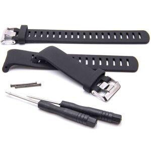 VHBW bracelet TPE compatible avec Suunto D4, D4i montre connectée - 16.3cm + 13,2 cm noir - Vhbw