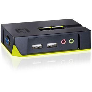 Level One Commutateur KVM 2 ports VGA USB USB avec audio Kvm-0221 - Level One