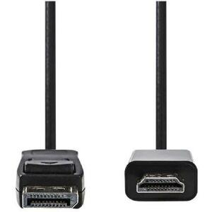 Nedis DisplayPort - HDMI? Cable - DisplayPort Male - HDMI? Connector - 3.0 m - Noir - Nedis