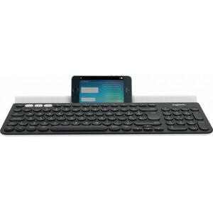 Logitech K780 - Standard - Sans fil - RF Wireless + Bluetooth - QWERTZ - Gris - Blanc (920-008034) - Logitech