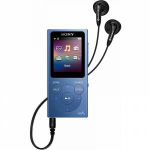 Sony nwe394l lecteur mp3 bleu avec écran 1,77''