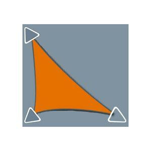 Direct Filet - Voile d'ombrage perméable de 3x3x4.2m format triangle à tendre   Anthracite
