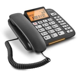 Siemens TÉlÉphone fixe filaire avec grandes touches mains libres et Écran ÉclairÉ dl580 noir