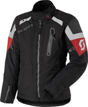 Scott Definit Pro DP Veste de dames moto Textile Noir Rouge taille : 40
