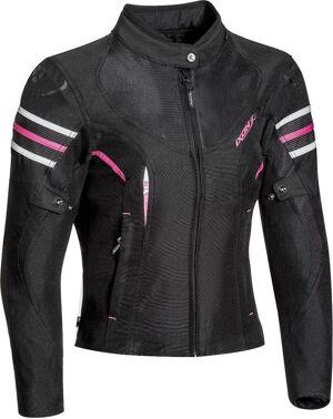 Ixon Ilana Veste textile de moto de dames Noir Rose taille : S