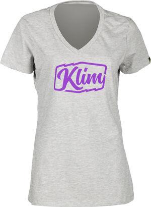 Klim Script T-Shirt dames Gris taille : XL
