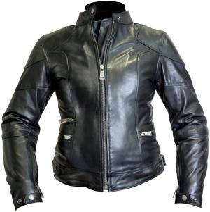 Helstons Pat Veste en cuir de moto de dames Noir taille : L