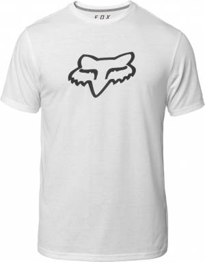 FOX Tournament SS Tech Tee T-Shirt Blanc taille : XL